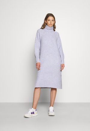 FREY - Gebreide jurk - light blue melange