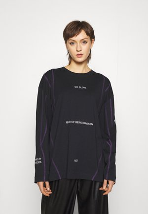 SPIRIT GO SLOW UNISEX - Long sleeved top - black