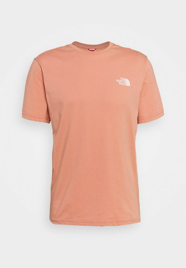 MENS SIMPLE DOME TEE - Camiseta básica - pink clay