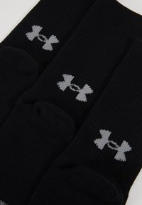 Under Armour - HEATGEAR CREW 3 PACK - Calcetines de deporte - black/steel - 2