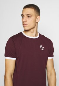 CLOSURE London - SIGNATURE RINGER TEE 3Pack - Basic T-shirt - greymarl/port/navy - 5