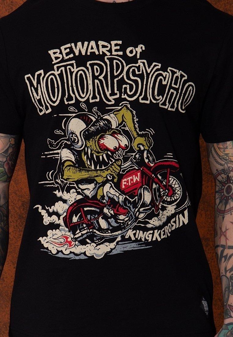 Herren MIT MONSTER MOTIV MOTORPSYCHO - T-Shirt print