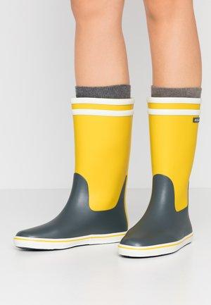 MALOUINE COLOR BLOCK - Stivali di gomma - lemony/urban