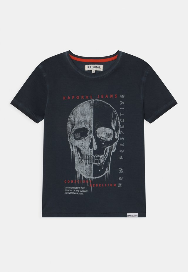 SIGNATURE SKULL  - T-shirt con stampa - navy