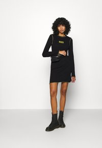 The Ragged Priest - LETTUCE OVERLOCKED DRESS - Jumper dress - black - 1