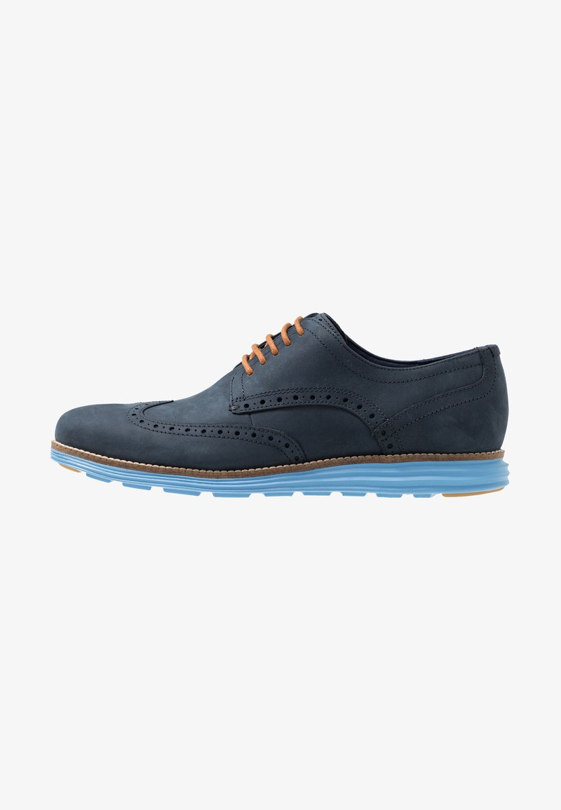 Cole Haan - ORIGINAL GRAND WINGTIP OXFORD - Chaussures à lacets - navy ink/hawthorn/pacific coast
