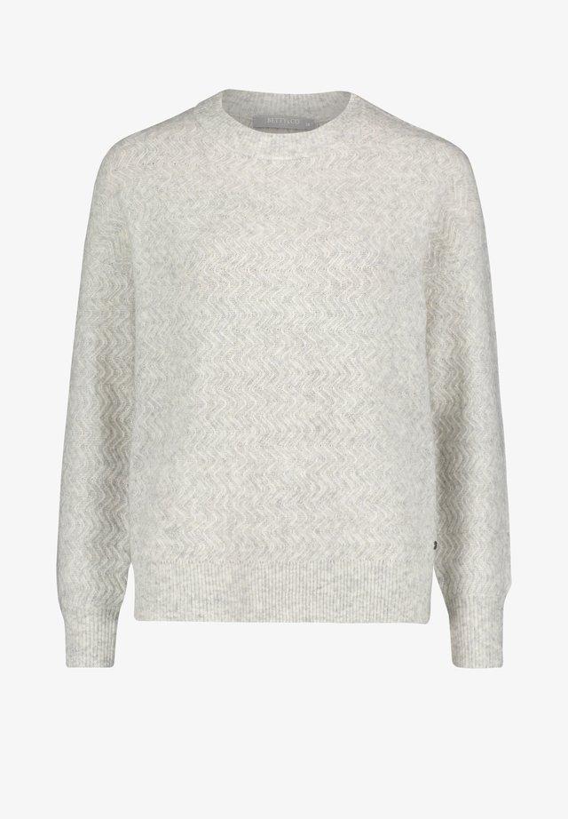 MIT STRUKTUR - Pullover - light silver melange