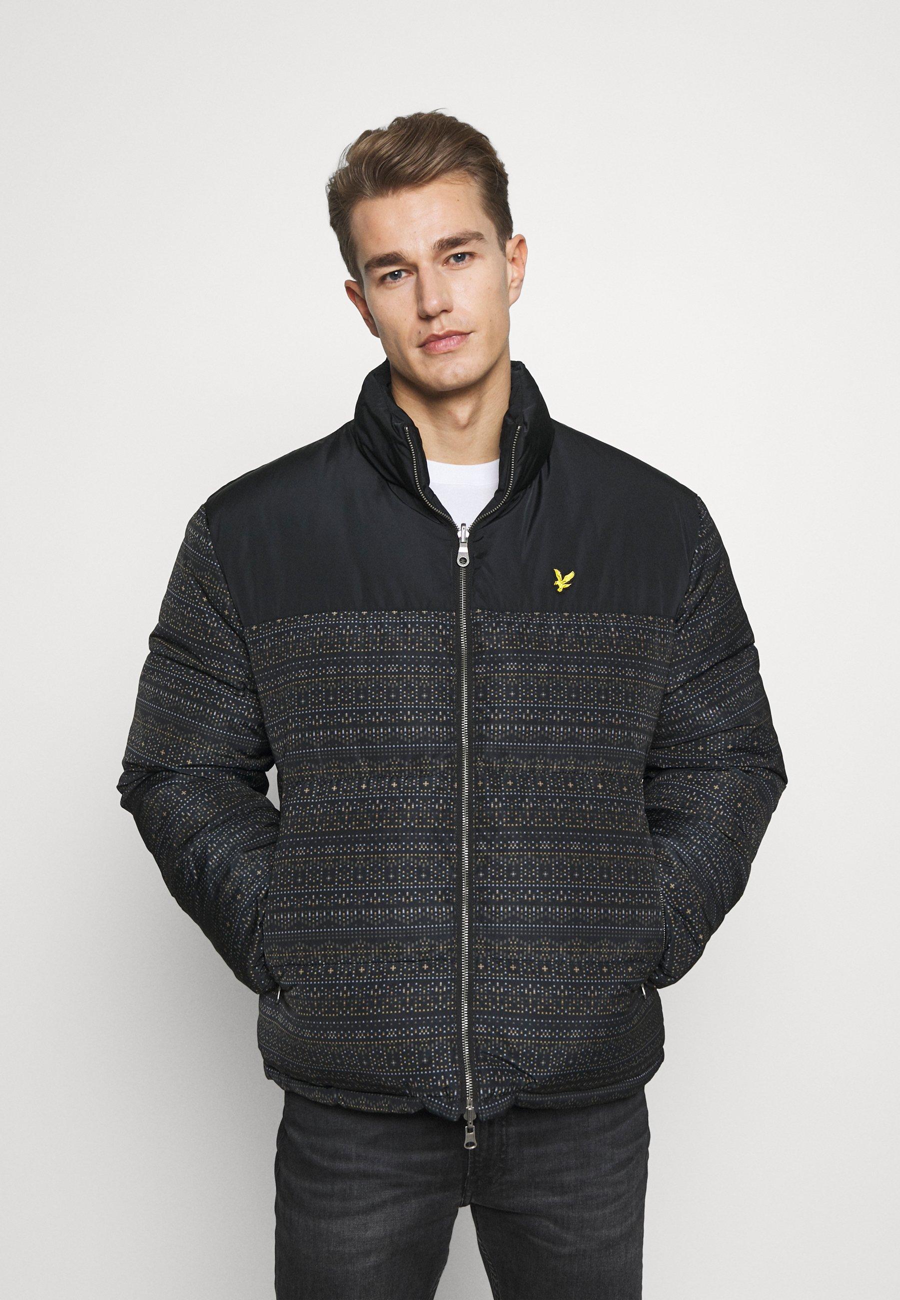 Men FAIR ISLE REVERSIBLE PUFFER JACKET - Winter jacket
