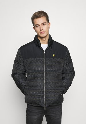 FAIR ISLE REVERSIBLE PUFFER JACKET - Winter jacket - jet black