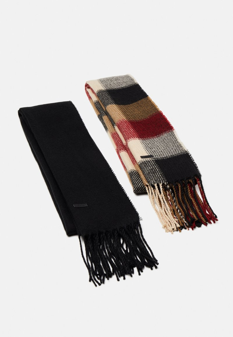 Only & Sons - ONSCARLO SCARF 2 PACK - Scarf - black