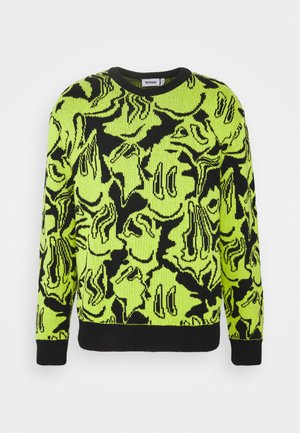 UNISEX  - Neule - black/yellow green