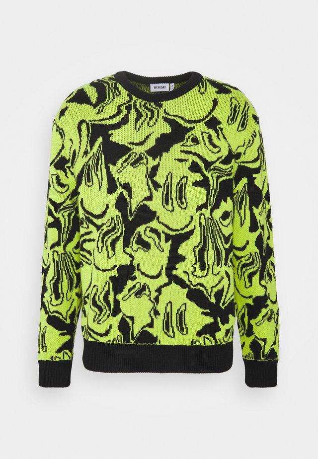 UNISEX  - Sweter - black/yellow green