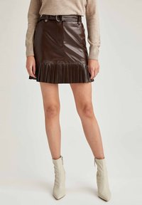 DeFacto - A-line skirt - brown