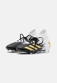 adidas Performance - PREDATOR FOOTBALL BOOTS FIRM GROUND UNISEX - Moulded stud football boots - footwear white/gold metallic/core black - 1