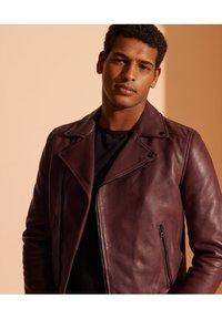 Superdry - Leather jacket - fig - 1