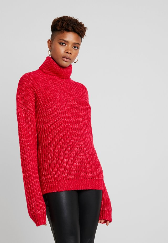 ROLL NECK JUMPER - Jersey de punto - bright rapsberry