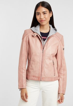ABBY - Leather jacket - rose