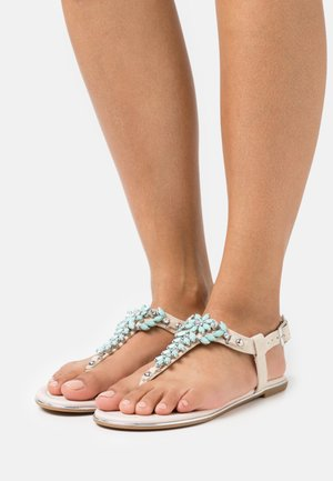 ROSALIE - T-bar sandals - beige/mint