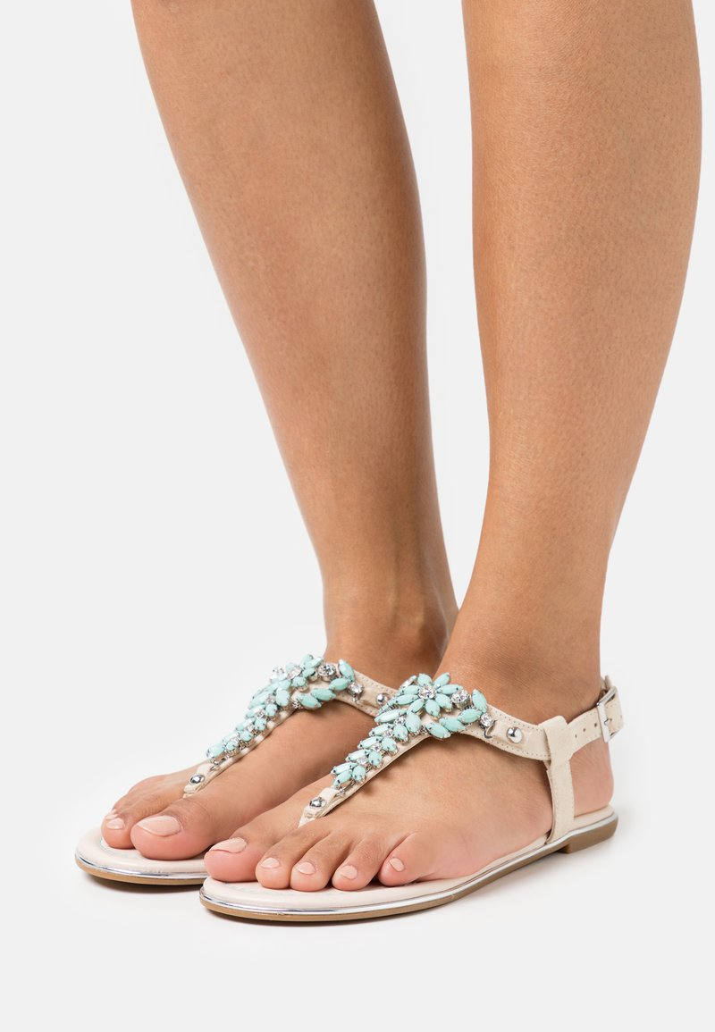 Buffalo - ROSALIE - T-bar sandals - beige/mint