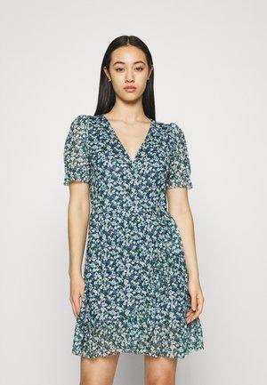 VIVOLETTE WRAP DRESS - Day dress - navy blazer/cottage