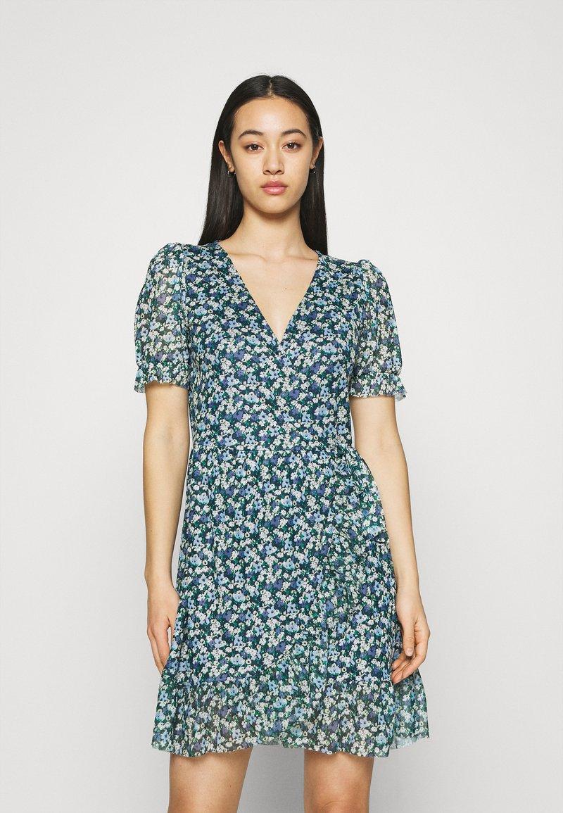 Vila - VIVOLETTE WRAP DRESS - Vestido informal - navy blazer/cottage