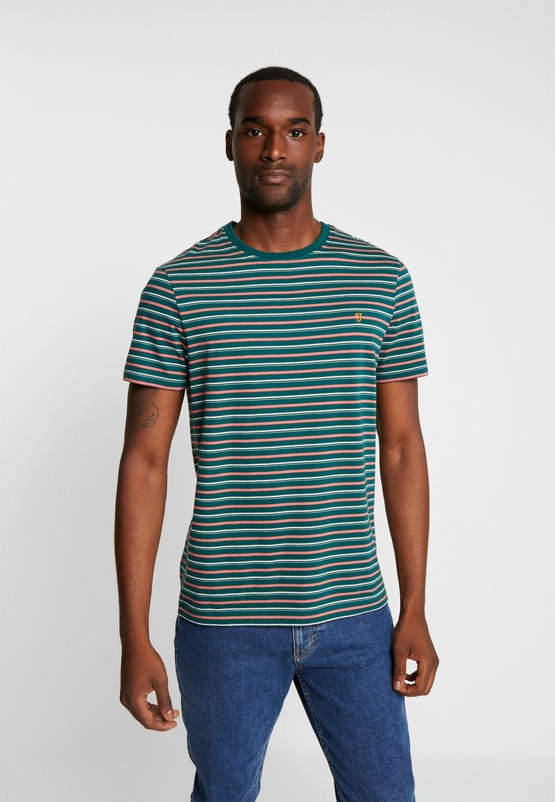 Farah - WEBSTER TEE - Print T-shirt - bright emerald