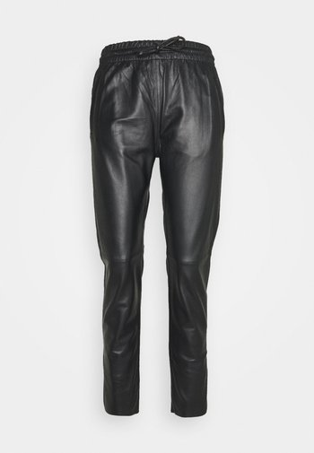 GIFT - Leather trousers - black