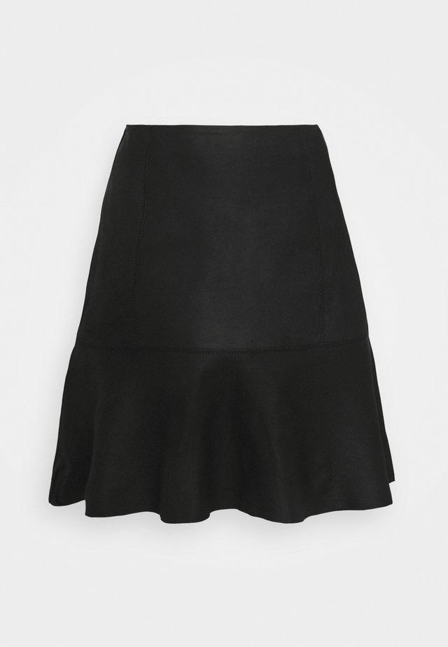 YASCOLLY NAPLON SKIRT - Minifalda - black
