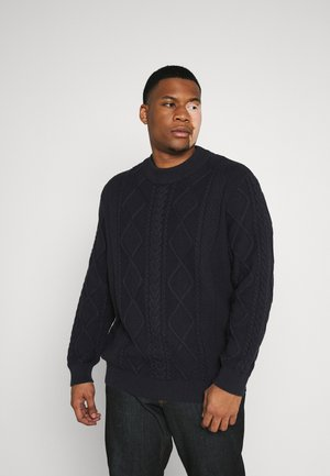 JPRBLUJULIAN CABLE HIGH NECK - Jumper - deep well
