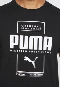 Puma - BOX TEE - Print T-shirt - black - 5