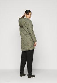 Noisy May Petite - NMFALCON LONG JACKET - Winter coat - dusty olive - 2