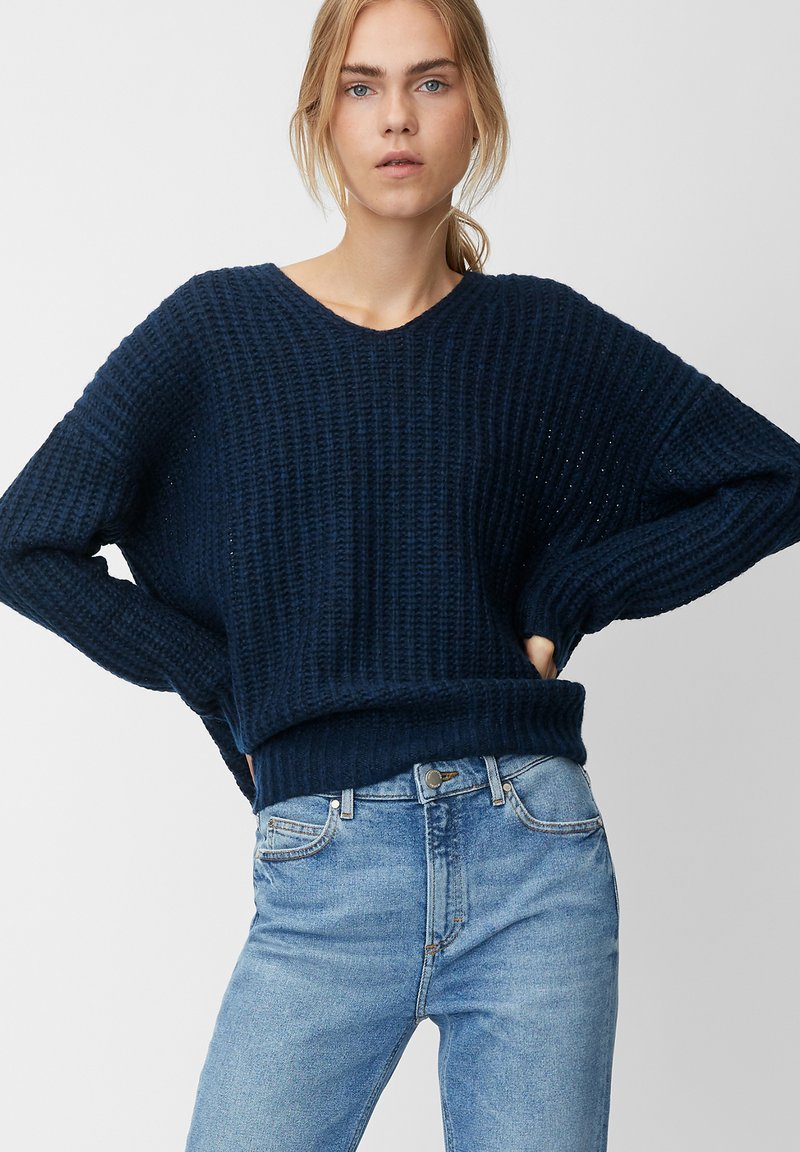 Marc O'Polo DENIM - LONG SLEEVE - Jumper - royal blue