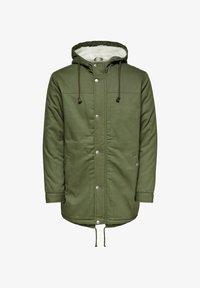 Zimní kabát - olive night