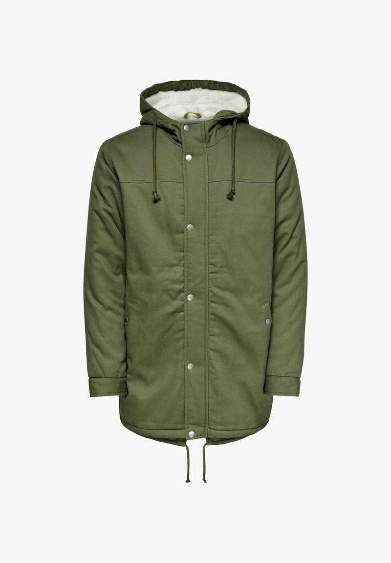 Only & Sons - Winter coat - olive night