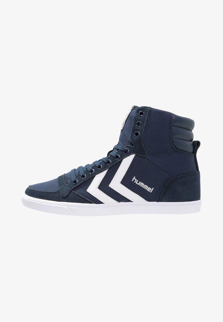 Hummel - SLIMMER STADIL - Sneakers hoog - dress blue/white