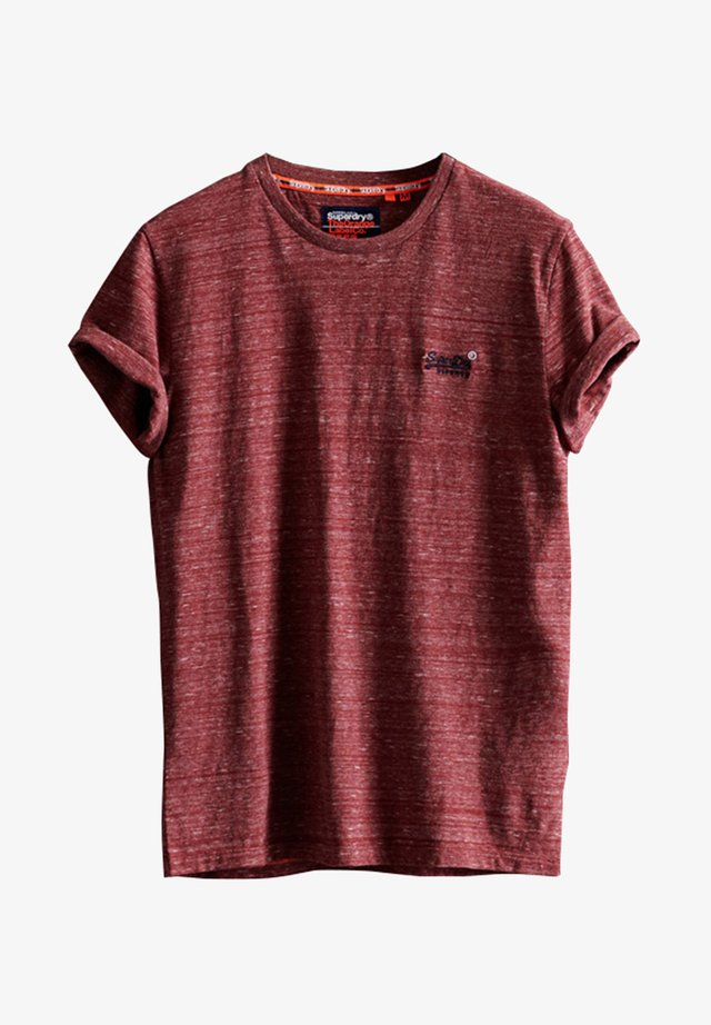 T-shirt print - brick red space dye zk
