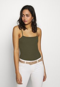 Even&Odd - 2 PACK - Top - black/khaki