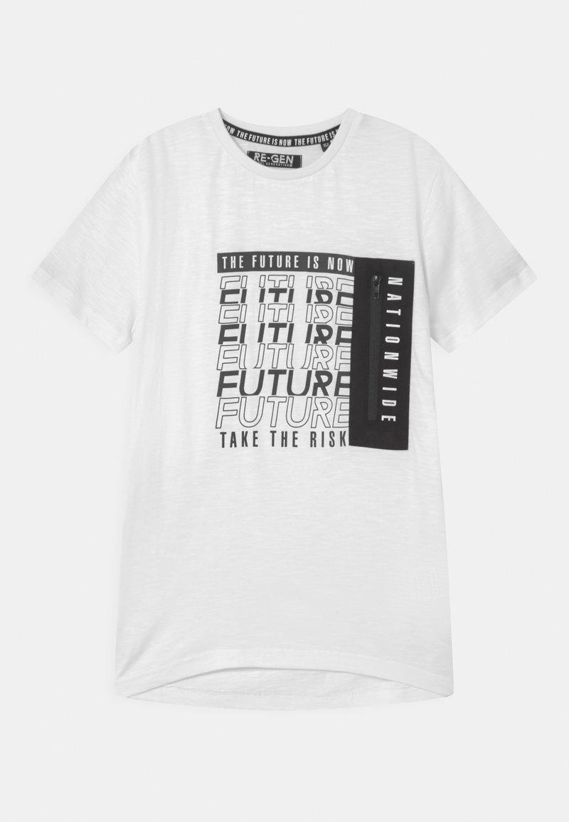 Re-Gen - TEEN BOYS - Print T-shirt - optical white