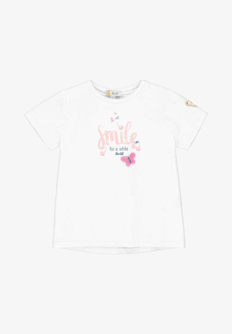 Steiff Collection - STEIFF COLLECTION T-SHIRT MIT NIEDLICHEM PRINT - Print T-shirt - bright white