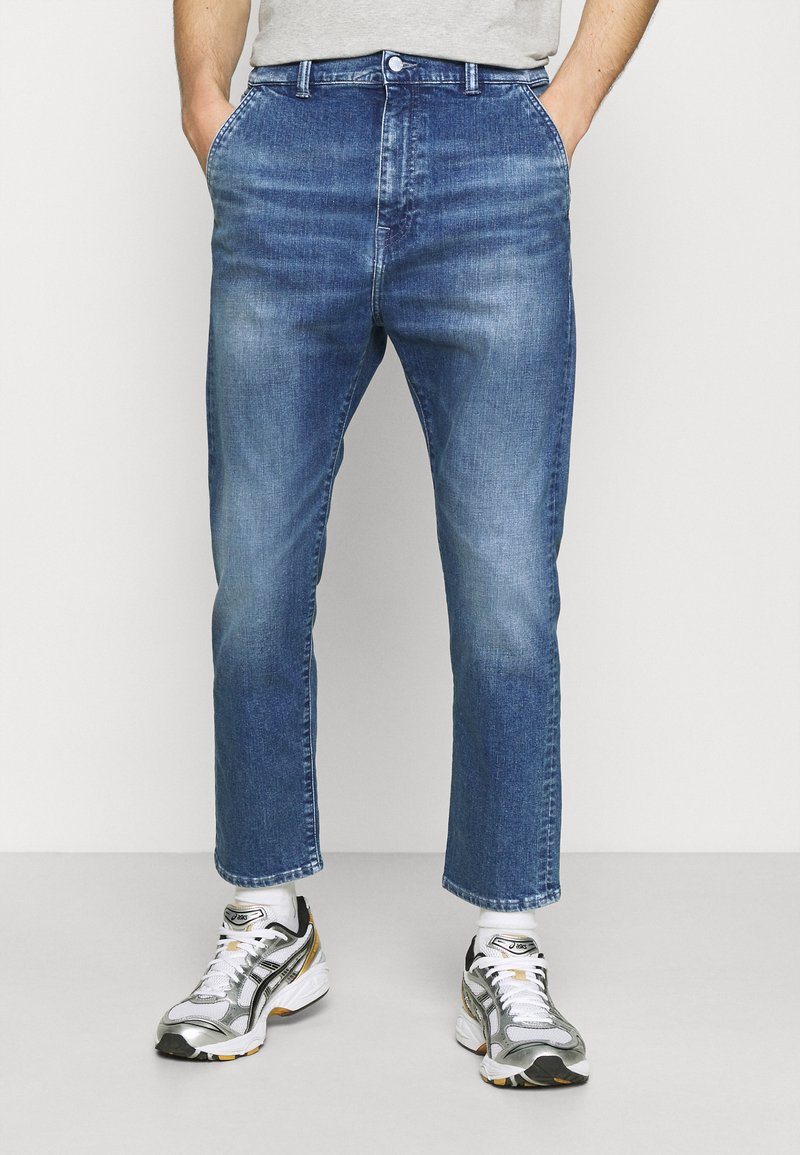 Edwin - UNIVERSE PANT CROPPED - Relaxed fit jeans - blue denim