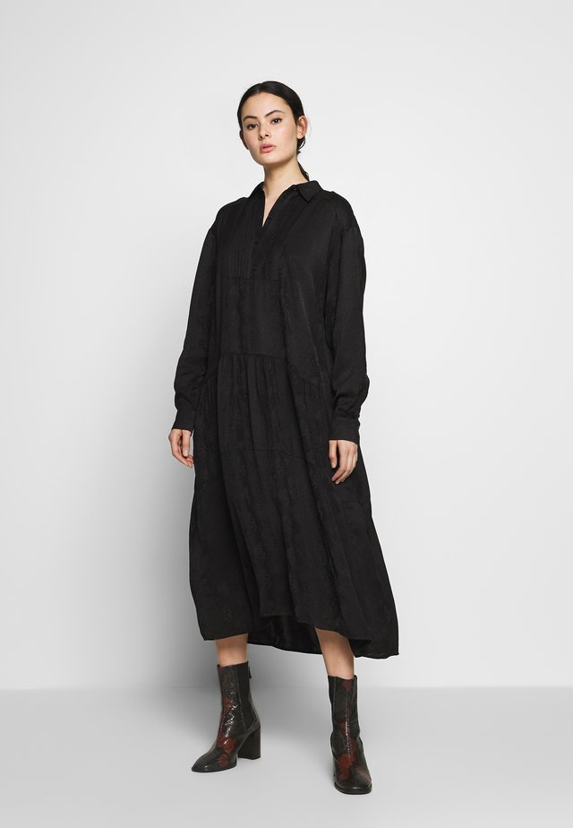 PETRINE DRESS - Shirt dress - black