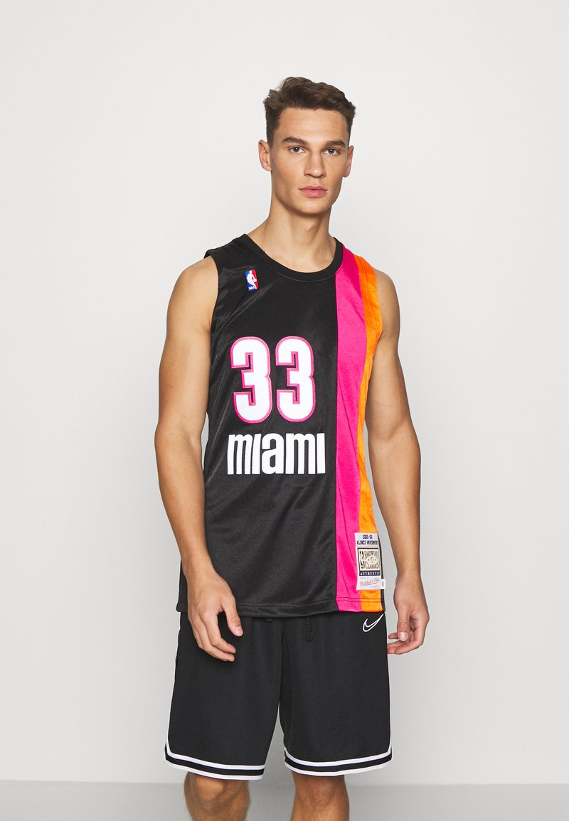 Mitchell & Ness - NBA MIAMI HEAT ALONZO MOURNING AUTHENTIC - Article de supporter - black