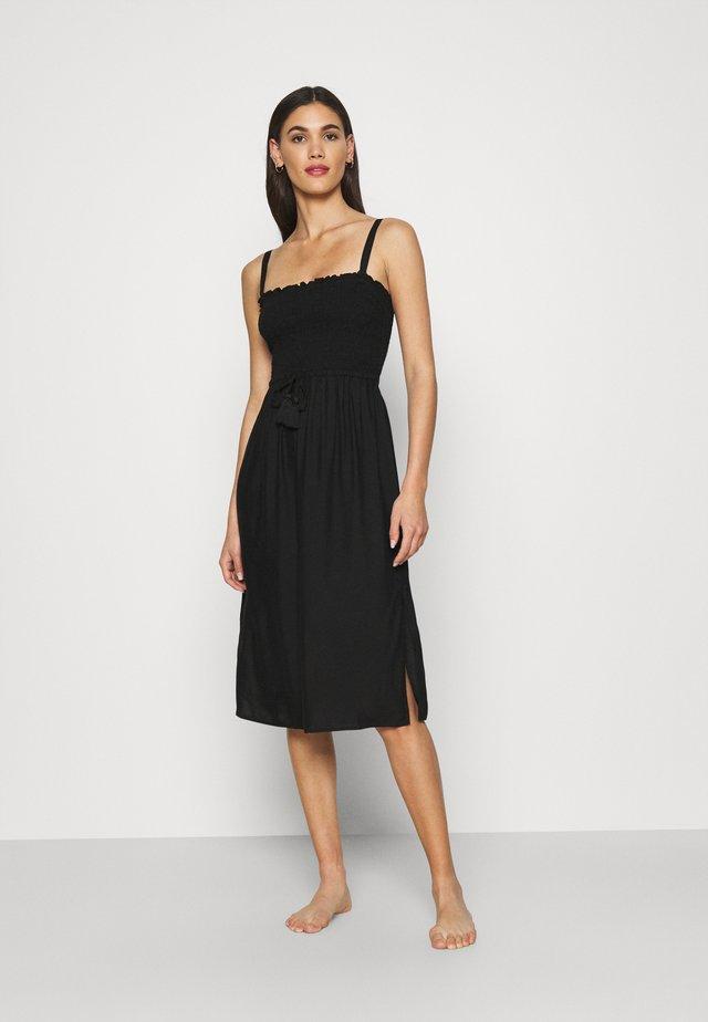 SHIRRED BEACH DRESS - Accessorio da spiaggia - black