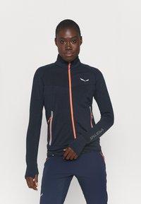 Salewa - PEDROC - Fleece jacket - navy blazer melange - 0