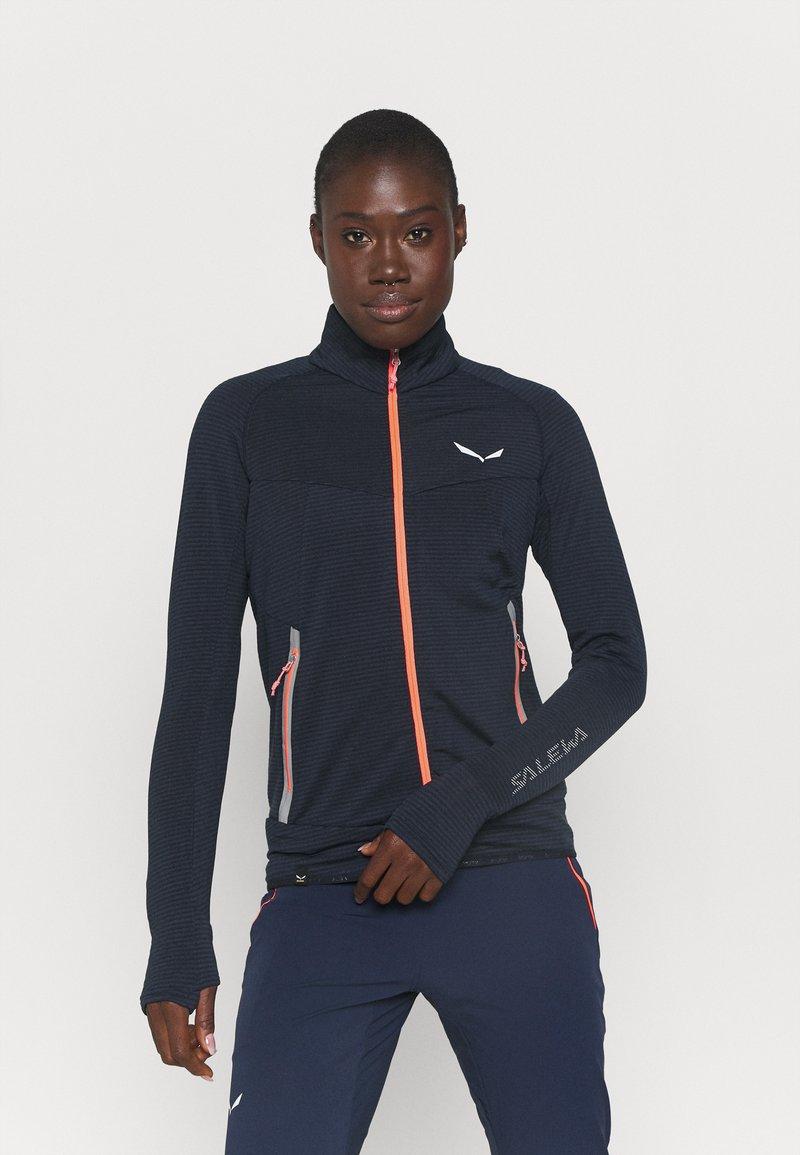Salewa - PEDROC - Fleece jacket - navy blazer melange