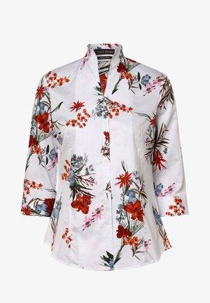 Button-down blouse - weiß orange
