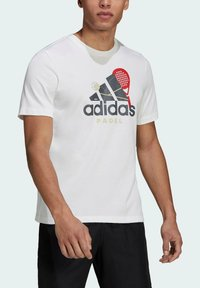 adidas Performance - PADEL GRAPHIC LOGO T-SHIRT - Print T-shirt - white - 2