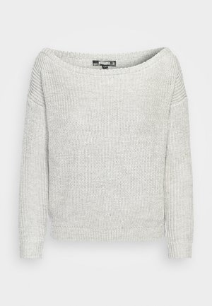 OPHELITA OFF SHOULDER JUMPER - Strikkegenser - grey