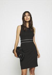 Anna Field - Pouzdrové šaty - black/white - 3