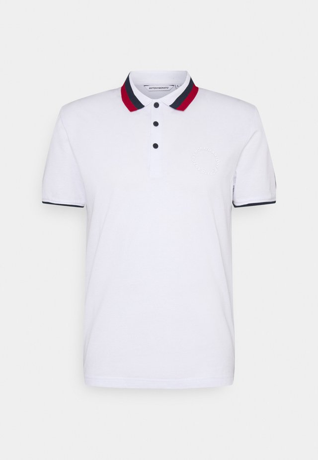 SLIM FITINMERCERIZED WITH REFLECTIVE  - Poloshirts - bianco